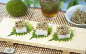 ちりめん山椒の押し寿司